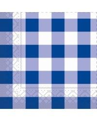 Servet Tissue Karo Blauw 24x24cm bestellen