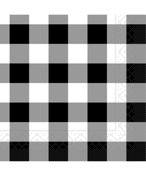 Servet Tissue Karo Zwart 24x24cm bestellen
