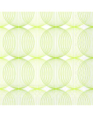 Servet Tissue 3 laags Ludo Lime/Oliv 40x40cm