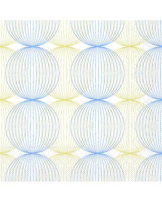 Servet Tissue 3 laags Ludo Blau/Gold 40x40cm