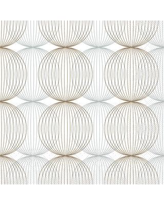 Servet Tissue 3 laags Ludo Beige/bruin 40x40cm