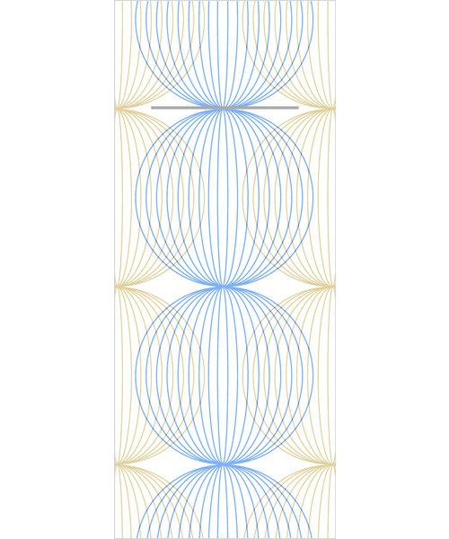 Pocket napkin Airlaid Ludo Blau/Gold  40x33cm  65 Gr 1/8 vouw  bestellen