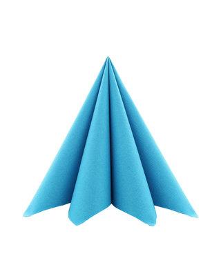 Servet Airlaid 40x40cm uni Aquablauw