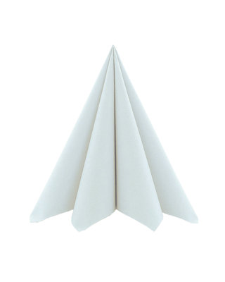 Servet Airlaid Light 20x20cm uni Parelgrijs