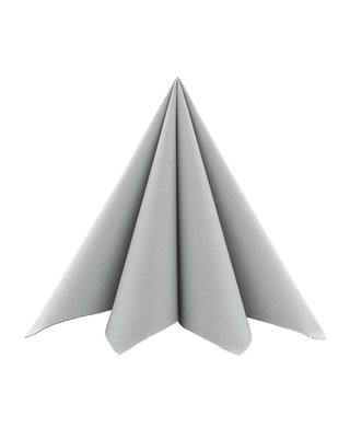 Servet Airlaid Light 20x20cm uni Grijs