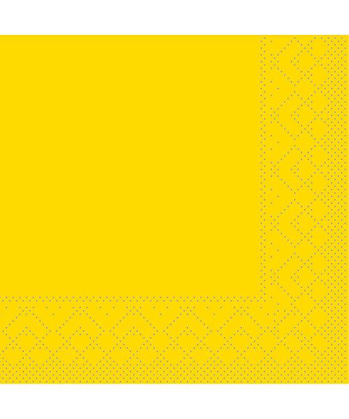Servet Tissue 3 laags Geel 24x24cm 1/4 vouw bestellen
