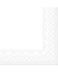 Servet Tissue 3 laags Wit 24x24cm 1/4 vouw bestellen