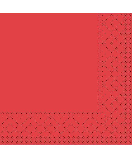 Servet Tissue 3 laags Rood 24x24cm 1/4 vouw bestellen