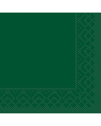 Servet Tissue 3 laags Groen 24x24cm 1/4 vouw bestellen