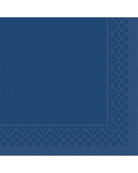 Servet Tissue 3 laags Blauw 24x24cm 1/4 vouw bestellen
