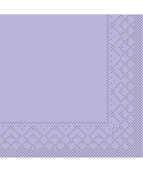 Servet Tissue 3 laags Lila 24x24cm 1/4 vouw bestellen