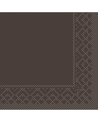 Servet Tissue 3 laags Bruin 24x24cm 1/4 vouw bestellen