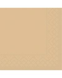 Servet Tissue 3 laags Sand 24x24cm 1/4 vouw bestellen