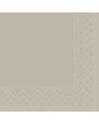 Servet Tissue 3 laags Beige/grijs 24x24cm 1/4 vouw bestellen