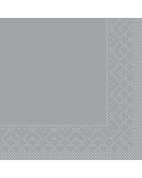 Servet Tissue 3 laags Grijs 24x24cm 1/4 vouw bestellen