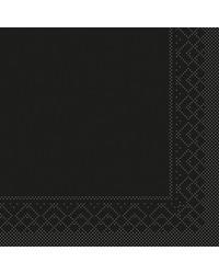 Servet Tissue 3 laags 20x20cm 1/4 vouw Uni Zwart bestellen