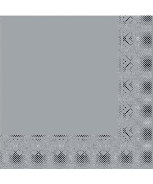 Servet Tissue 3 laags 20x20cm 1/4 vouw Uni Grijs bestellen