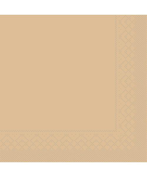 Servet Tissue 3 laags 20x20cm 1/4 vouw Uni Sand bestellen