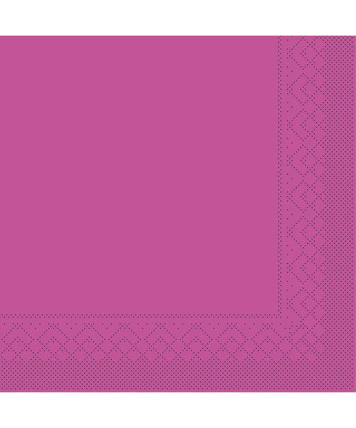 Servet Tissue 3 laags 20x20cm 1/4 vouw Uni Violet bestellen