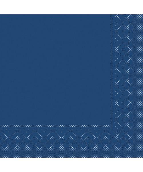 Servet Tissue 3 laags 20x20cm 1/4 vouw Uni Blauw bestellen