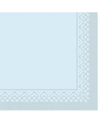 Servet Tissue 3 laags 20x20cm 1/4 vouw Uni Lichtblauw bestellen
