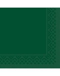 Servet Tissue 3 laags 20x20cm 1/4 vouw Uni Groen bestellen