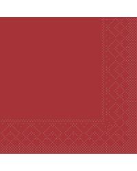 Servet Tissue 3 laags 20x20cm 1/4 vouw Uni Bordeaux bestellen
