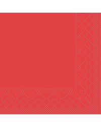 Servet Tissue 3 laags 20x20cm 1/4 vouw Uni Rood bestellen