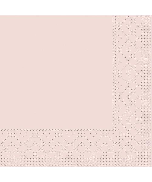 Servet Tissue 3 laags 20x20cm 1/4 vouw Uni Oudroze bestellen