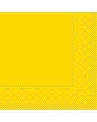 Servet Tissue 3 laags 20x20cm 1/4 vouw Uni Geel bestellen
