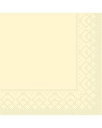 Servet Tissue 3 laags 20x20cm 1/4 vouw Uni Creme bestellen