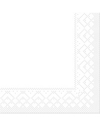 Servet Tissue 3 laags 20x20cm 1/4 vouw Uni Wit bestellen