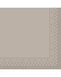 Servet Tissue 3 laags Beige/Grijs 33x33cm 1/8 vouw bestellen