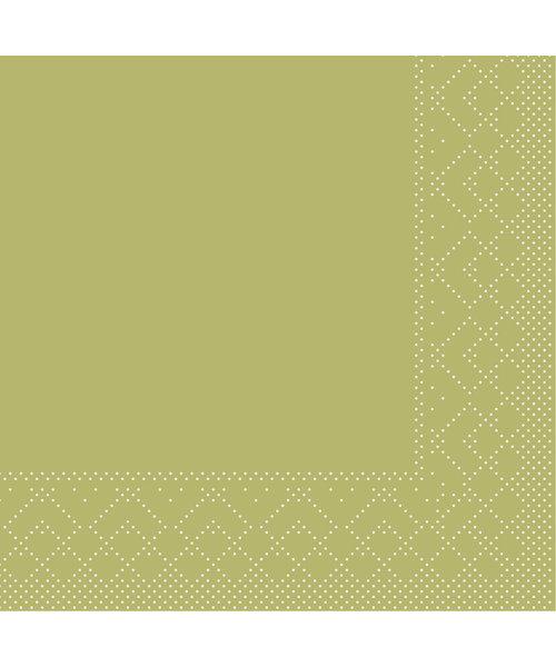 Servet Tissue 3 laags Olijf 40x40cm 1/8 vouw bestellen