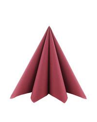 Servet Softpoint 40x40cm Uni Bordeaux 1/4 vouw kopen