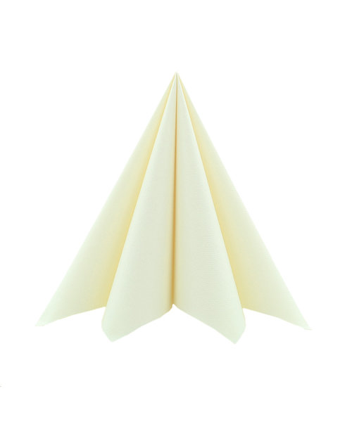 Servet Softpoint 40x40cm Uni Creme 1/4 vouw kopen
