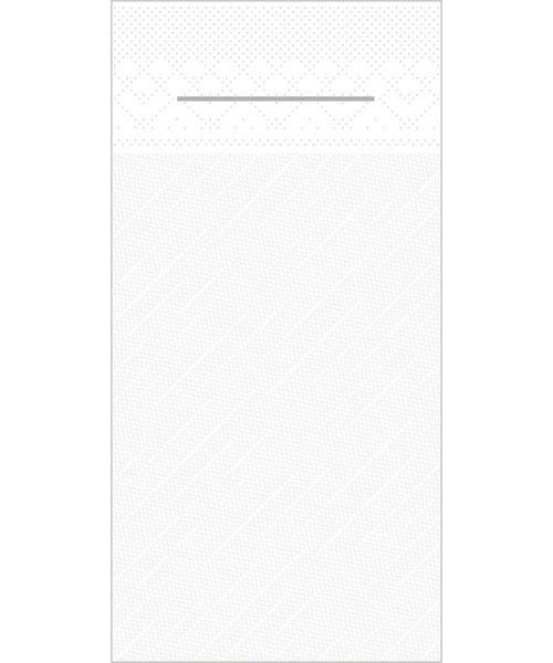 Pocket napkin Tissue Deluxe Light 40x40cm 3 Lgs  1/8 vouw Wit bestellen