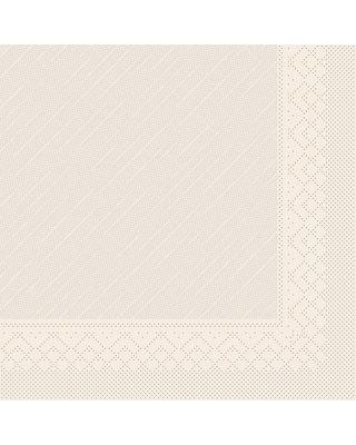 Servet Tissue Deluxe Light 3 laags 40x40cm Uni Recycled Bruin