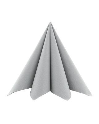 Cocktail Servet Softpoint  17x17cm uni Grijs
