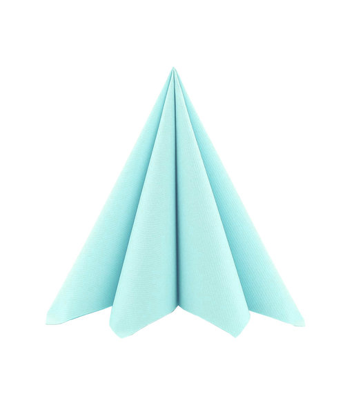 Cocktailservet Airlaid Light 17x17cm uni Sky kopen