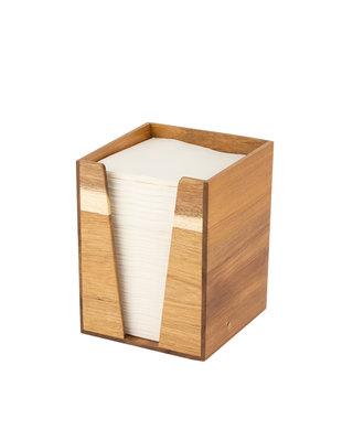 Dispenser Hout, voor servet 33x33cm
