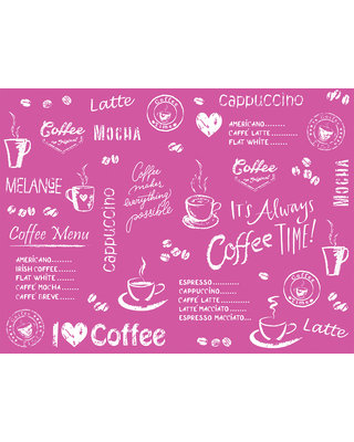 Placemat Airlaid 40x30 Coffee Time Bordeaux