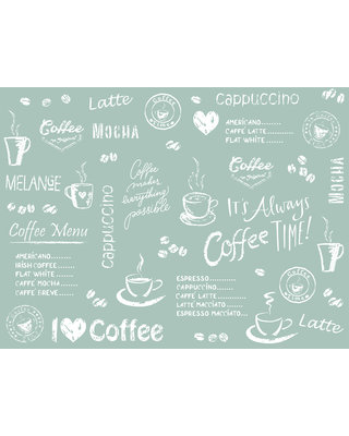 Placemat Airlaid 40x30 Coffee Time Antraciet