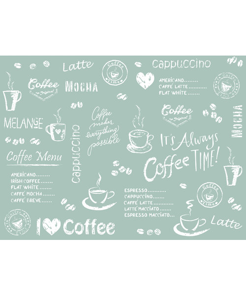 Placemat Airlaid 40x30 Coffee Time Antraciet bestellen