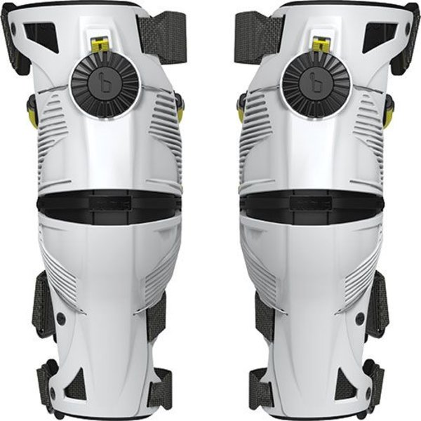X8 Kneebraces (pair) White/Acid Yellow