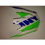 Track Helmet Peak Adult Navy/Neon Green