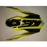 Performance Helmet Peak Kids Black/ Neon Yellow/ Cyan
