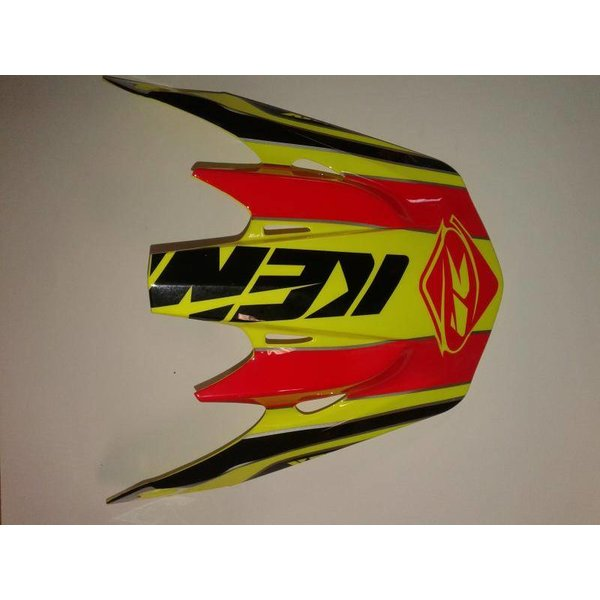 Track Helmet Peak 2015 Adult Neon Yellow/Red