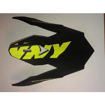 Performance Helmet Peak 2015 Adult Matt Black/Neon Yellow