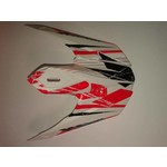 Track helmet peak 2014 adult BLACK/RED